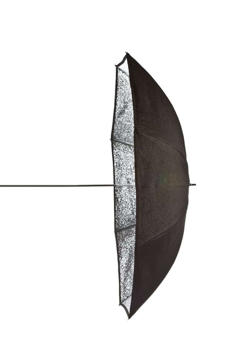 Black/Silver Umbrella 105 cm