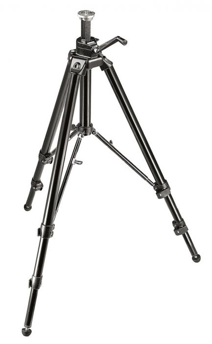 Manfrotto Aluminium Pro Geared Tripod with Geared Column - Black