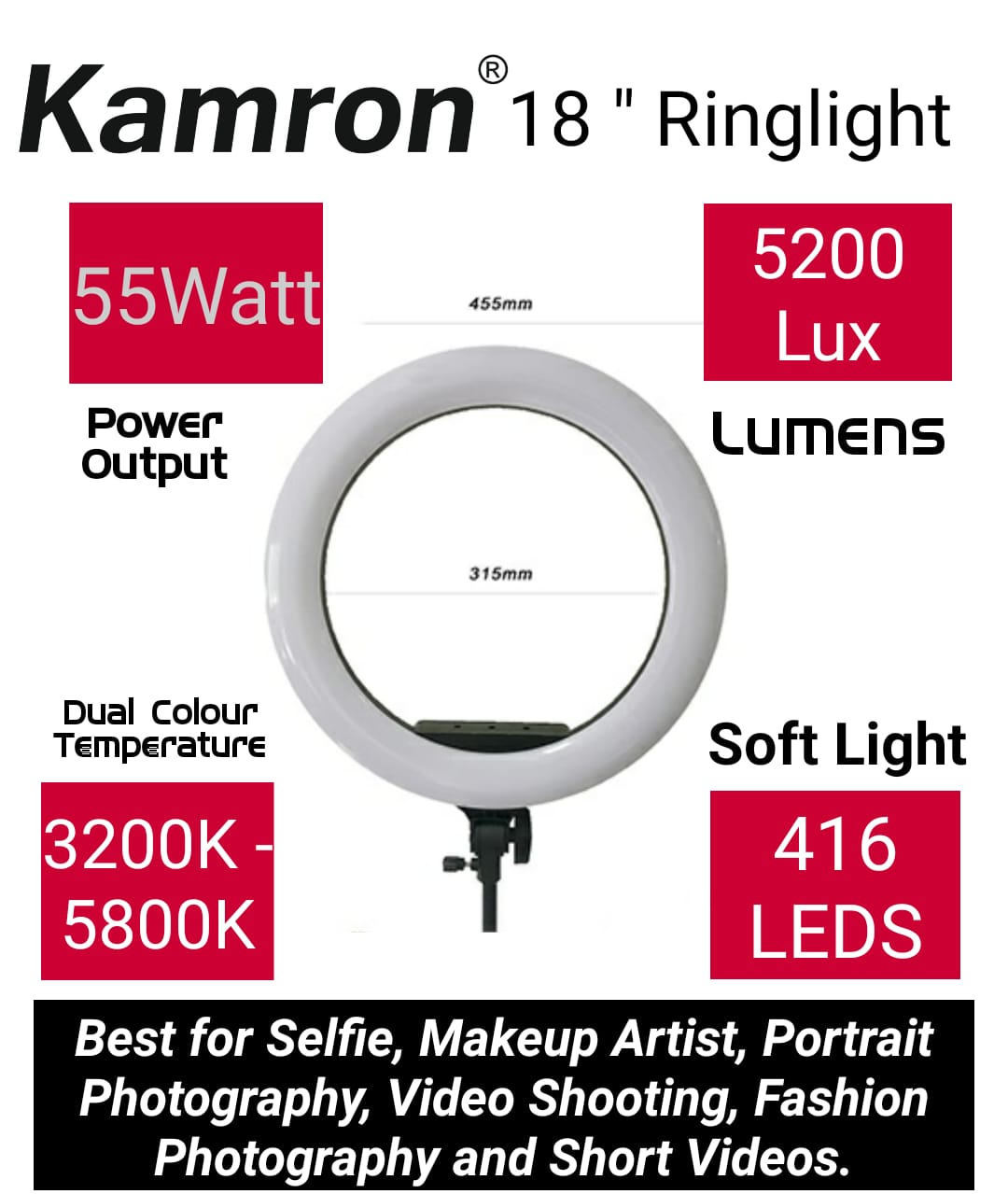 Kamron 18 inch ring led