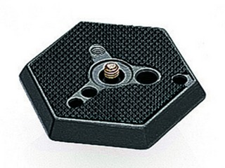 Manfrotto 030-14 Hexagonal Adapter Plate normal with 1/4'' screw