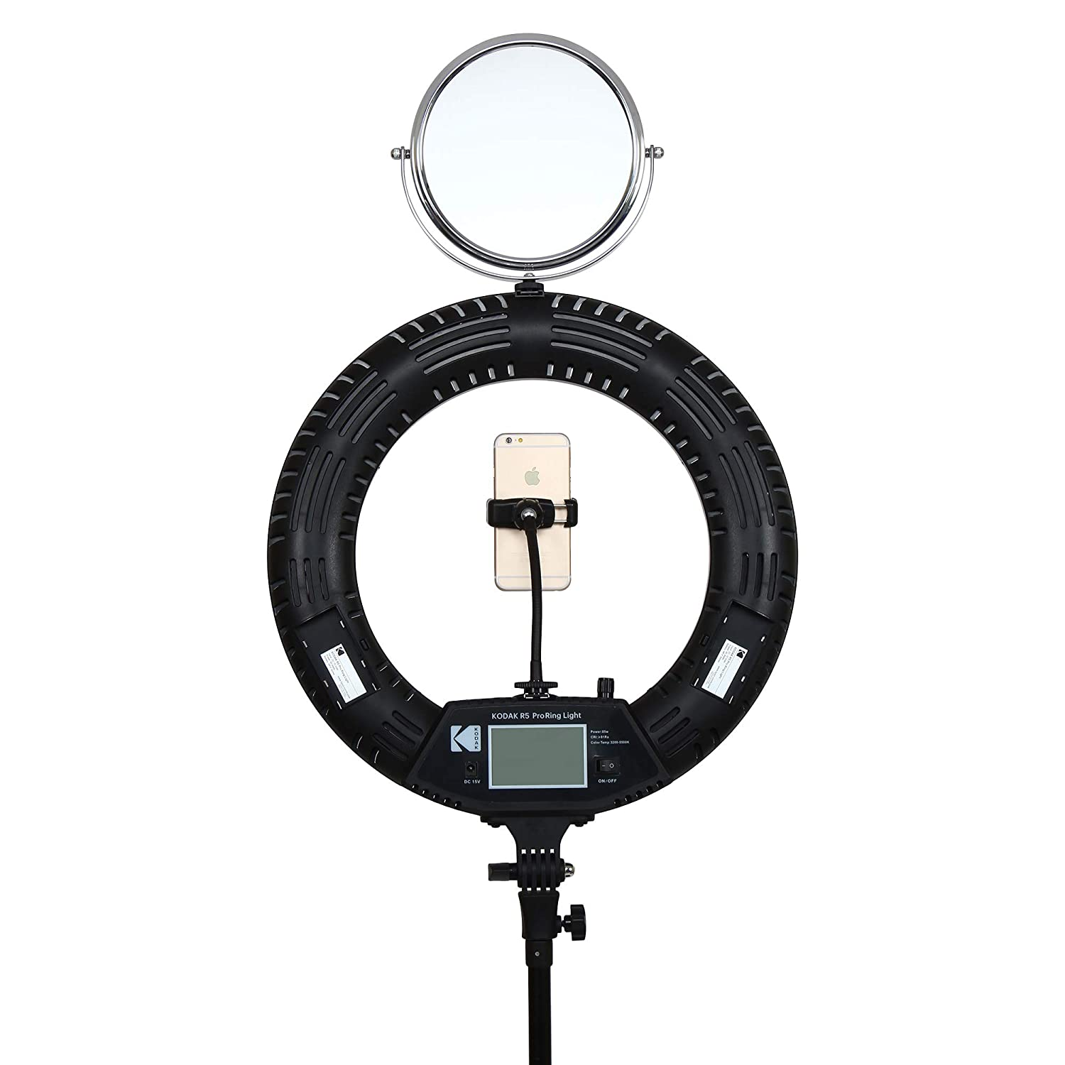 "KODAK R5 Pro 18"" Ring Light with LCD Display and Remote"