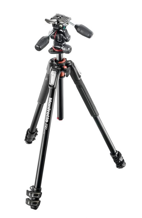 Manfrotto 190 aluminium 3-section tripod with head