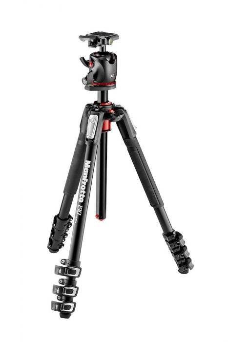 Manfrotto 190 Aluminium 4-Section Tripod with XPRO Ball Head