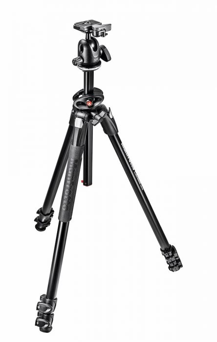 Manfrotto 290 Dual Alu 3-Section Tripod Kit with 496RC2 Ball Head