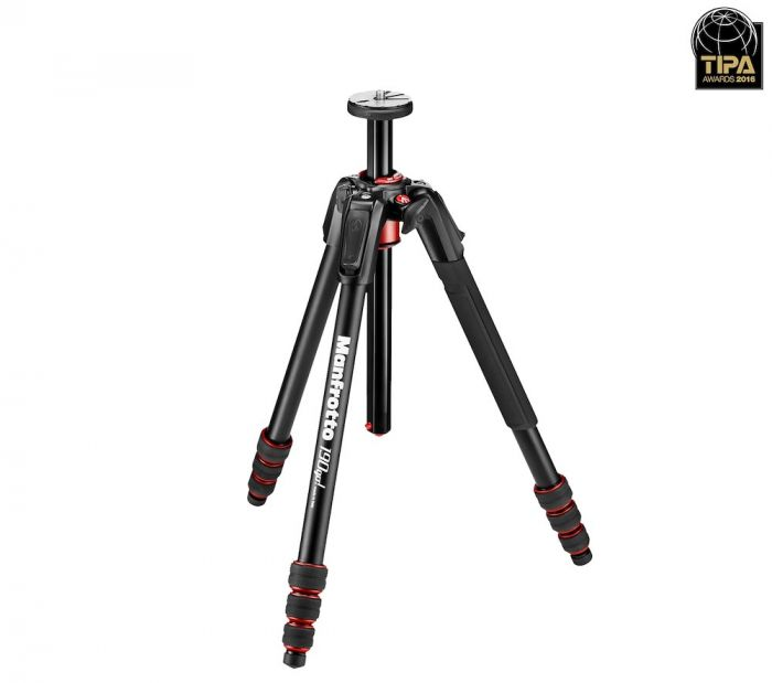 Manfrotto 190go! MS Aluminum 4-Section photo Tripod with twist locks