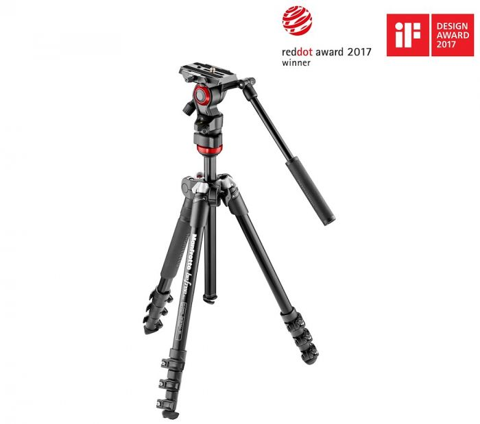 Manfrotto Befree live fluid head with Befree aluminum tripod system