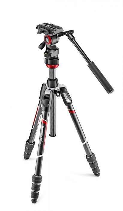 Manfrotto Befree live Carbon fibre tripod twist, video head