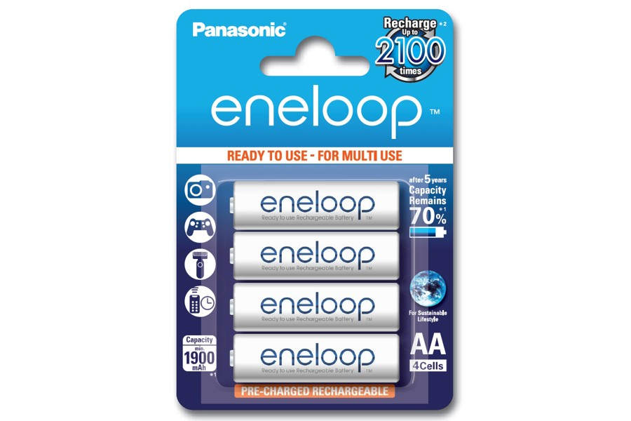 Panasonic enveloop 2000 nimh pack of 4 battries