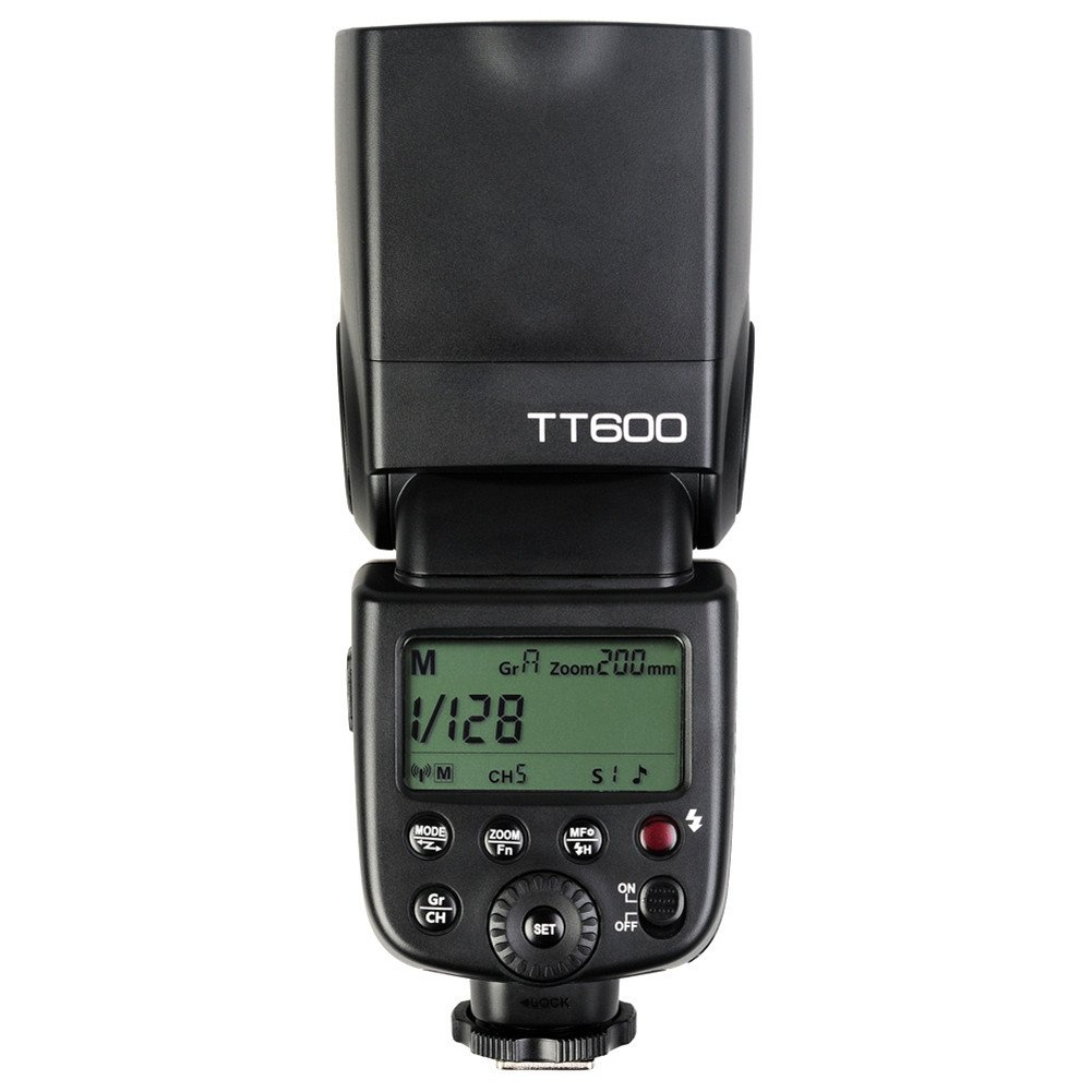 Godox TT600 Manual Speedlite Flash with Built-in 2.4GHz Godox X Series Radio Transceivers for All Digital Cameras with Standard Hot Shoe (Black)