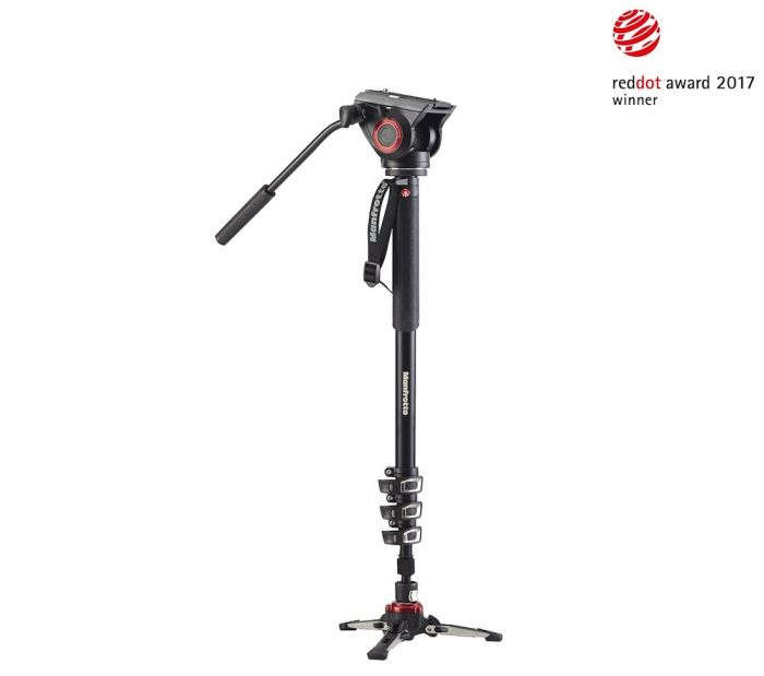 Manfrotto XPRO 4 sec video monopod w Fluid head,FLUIDTECH base
